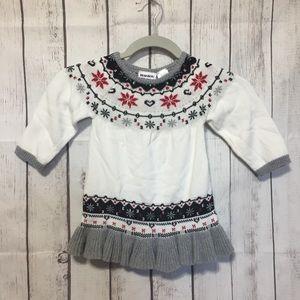 Blueberi Boulevard Girls 4T Sweater White Ruffle